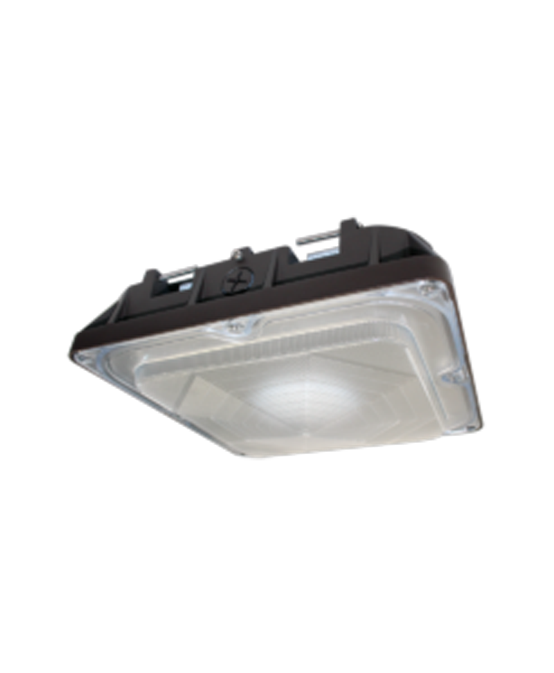 Led Light Fixtures For Residential Garage: Dimmable LED Canopy Fixture 80W (100-277V)